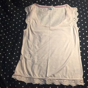 Boden Tank Top with Eyelet Trim